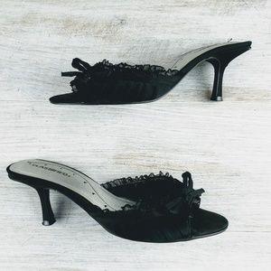 💞5/15$ Classified Open Toe Heel Mules
